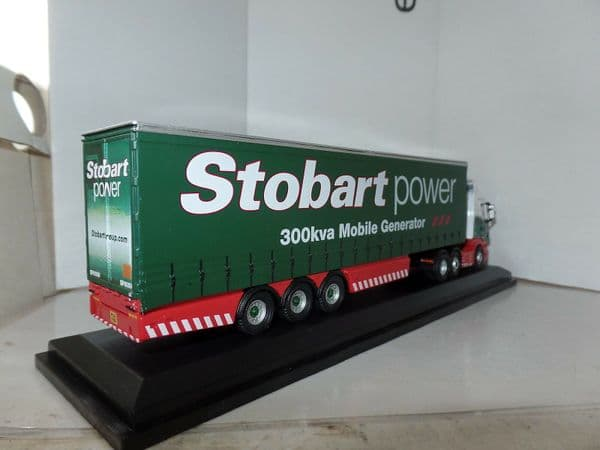Oxford 76SHL02CS SHL02CS 1/76 Scania Curtainside Eddie Stobart Power Generator Worn Box